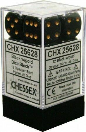 Dice CHX 25628 black/gold