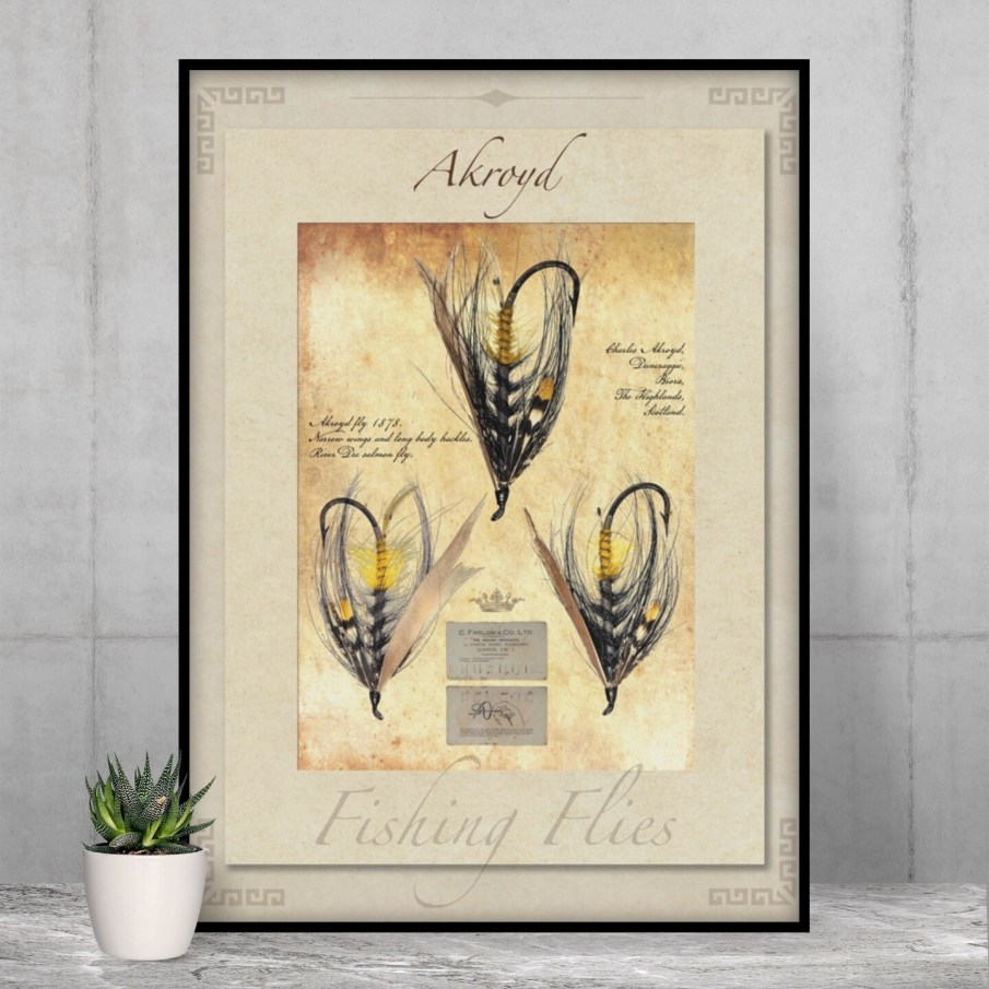 Akroyd Salmon Fly - High Quality Vintage-Style Print