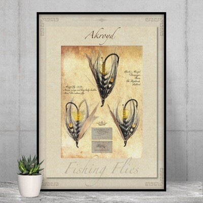 Akroyd Salmon Fly - High Quality Vintage-Style Print