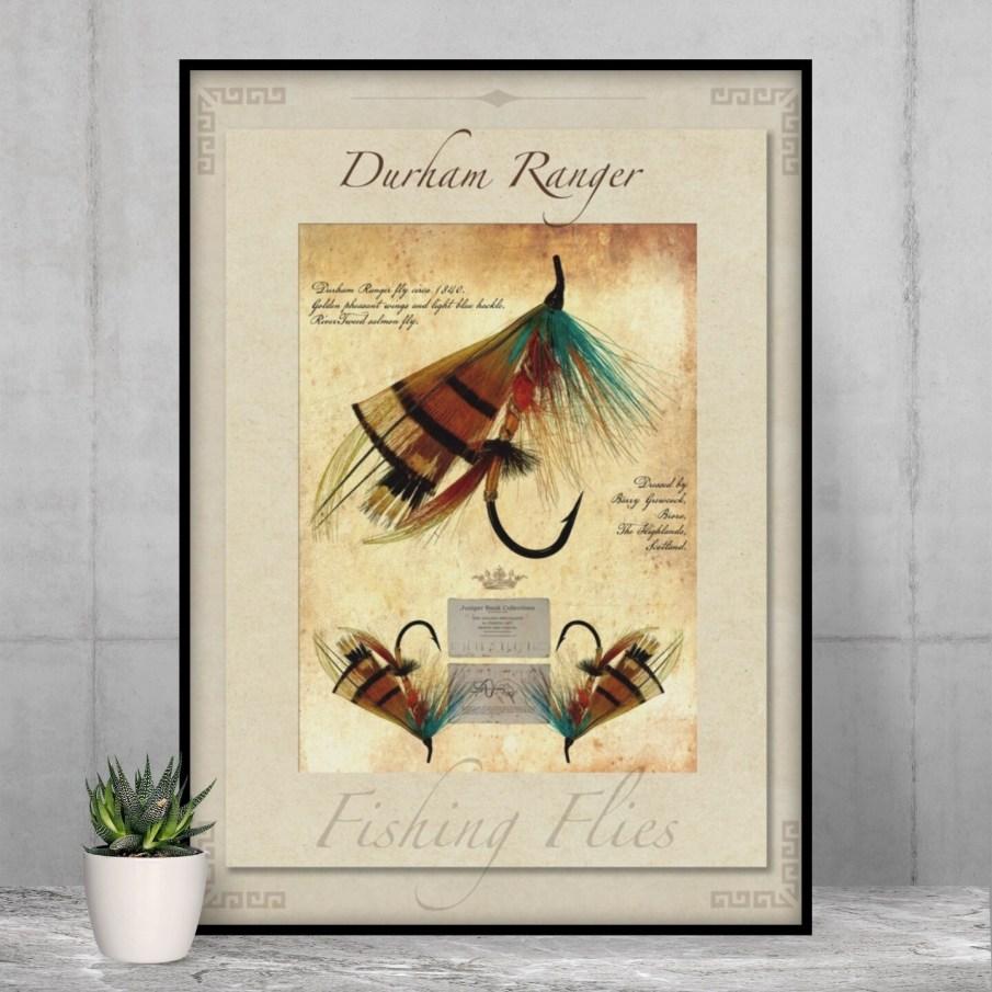 Durham Ranger Salmon Fly - High Quality Vintage-Style Print