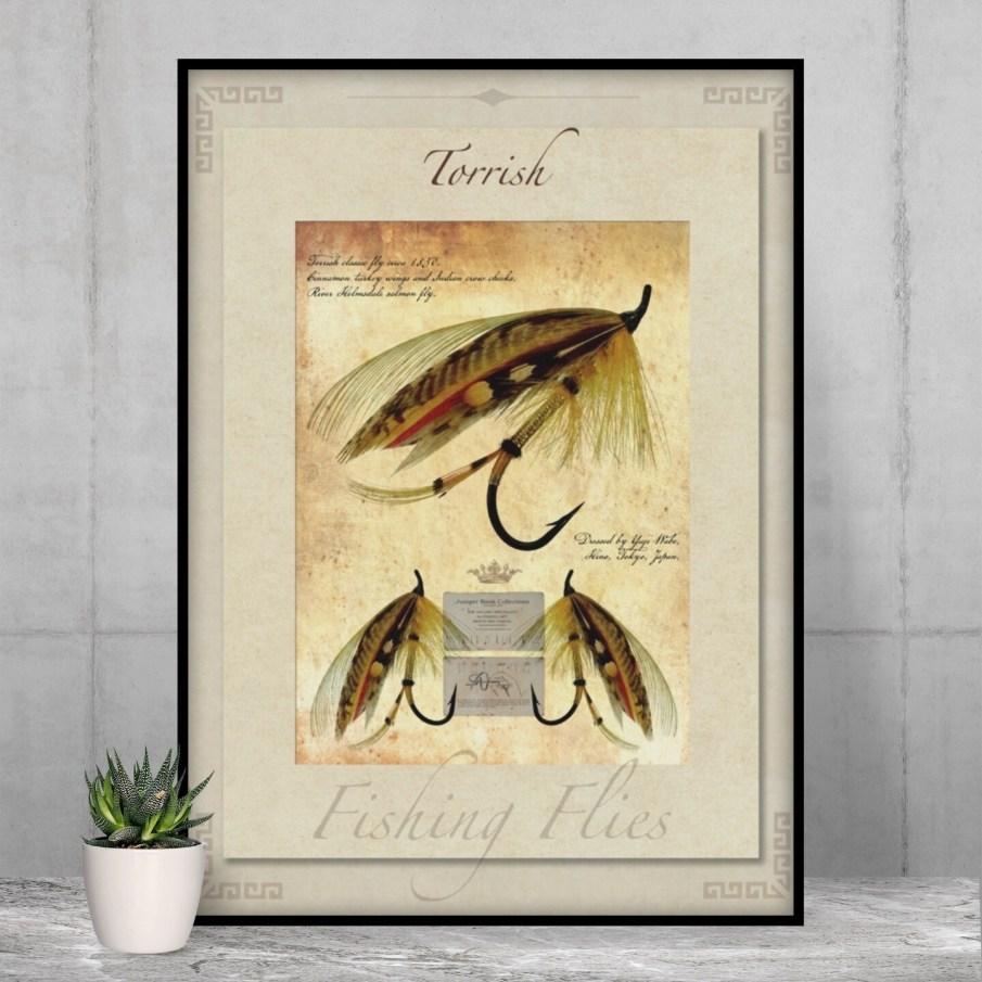Torrish Salmon Fly - High Quality Vintage-Style Print