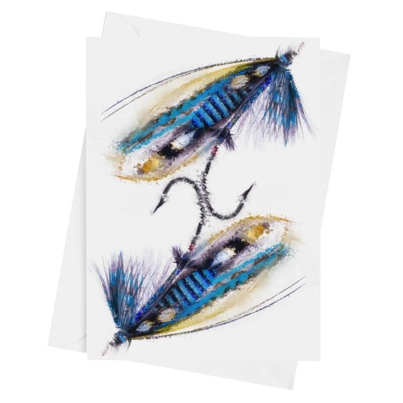 NHS Warrior Fishing Fly - Luxury Art Greetings Card A5 (8.3