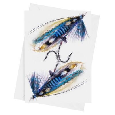 NHS Warrior Fishing Fly - Luxury Art Greetings Card 8
