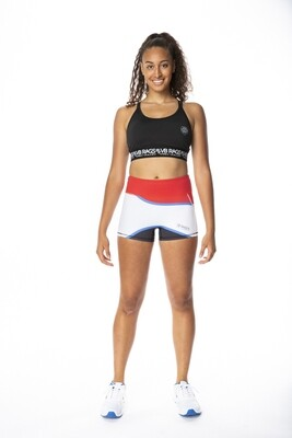 CONTROL COMPRESSION SHORT WAVE | RED/WHITE/BLACK WITH BLUE TRIM