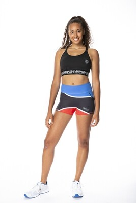 CONTROL COMPRESSION SHORT WAVE | BLUE/BLACK/RED WITH WHITE TRIM