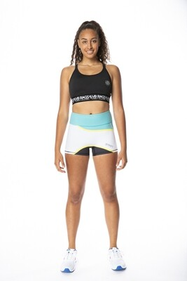 CONTROL COMPRESSION SHORT WAVE | TEAL/WHITE/BLACK WITH YELLOW TRIM