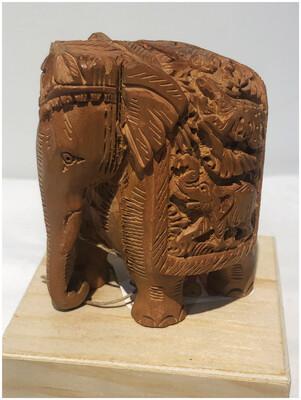 Vintage Wood Elephant Figurine