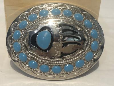 Vintage Faux Turquoise Belt Buckle
