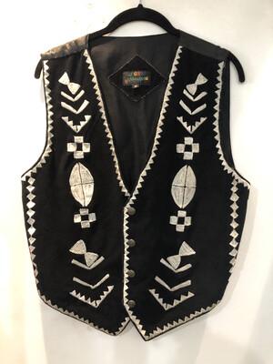 Vintage J GEE Embroidered Suede Vest