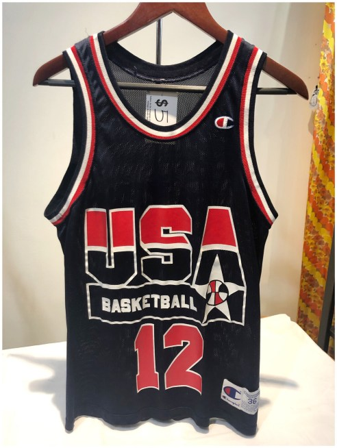 Vintage USA Basketball No 12 Wilkins Jersey