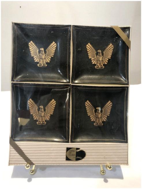 Vintage Glass Thunderbird Coasters By Houze Art