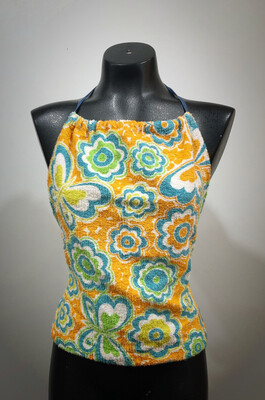 Vintage Terry Cloth Halter Top