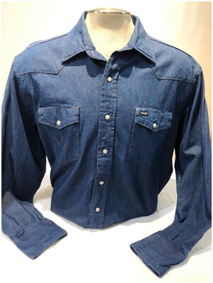 Vintage Wrangler Men's Western Denim Shirt