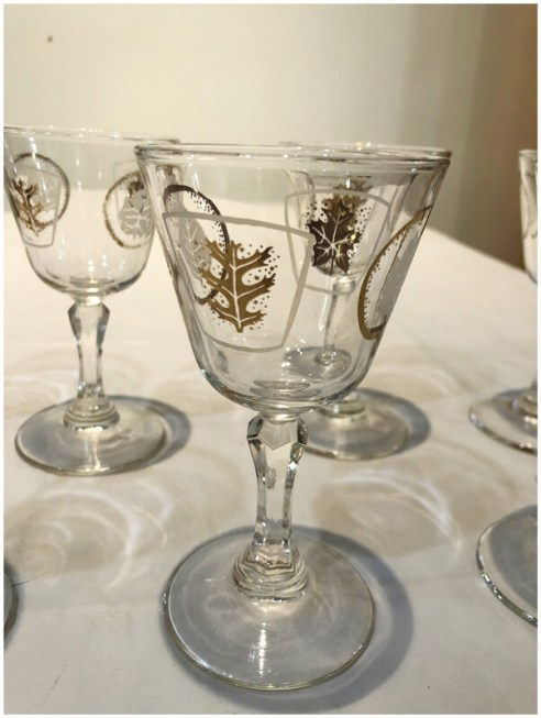 Mid Century After Dinner Drink/Shooter Glasses