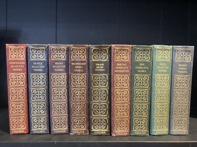 Complete Library Of Masterworks From The Great Authors, Nine Volumes, 1920