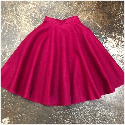 Vintage 1950's Handmade Felt Pleated Skirt