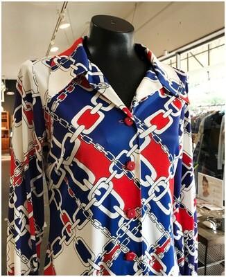 Vintage 1970's Jon Logan Bleaker Street Dress