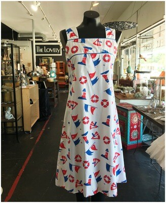 Vintage 1960's Vested Gentress Print Shift Dress