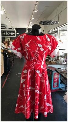 Vintage 1970's Handmade Dress with Reversible Belt