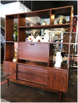 Mid Century Room Divider Bookcase
