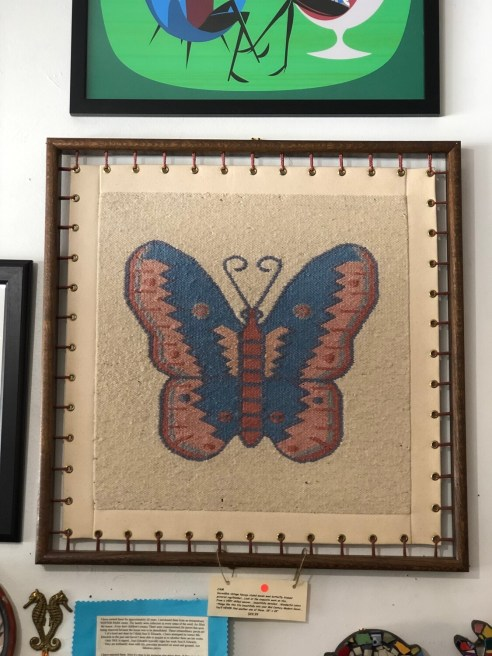 Vintage Framed Navajo Styled Woven Will Butterfly