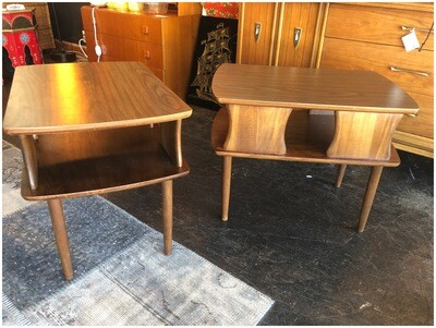 Mid Century End Tables with Formica Tops