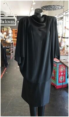 Vintage 1980's Daymor Bat Wing Dress