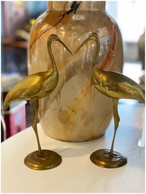 Vintage Brass Sandhill Cranes