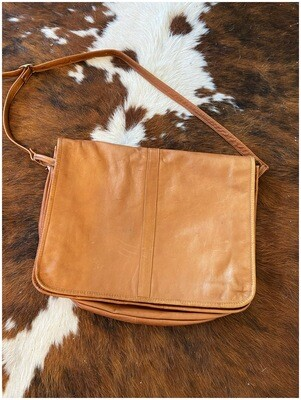 Vintage Genuine Leather Unisex Messenger Bag