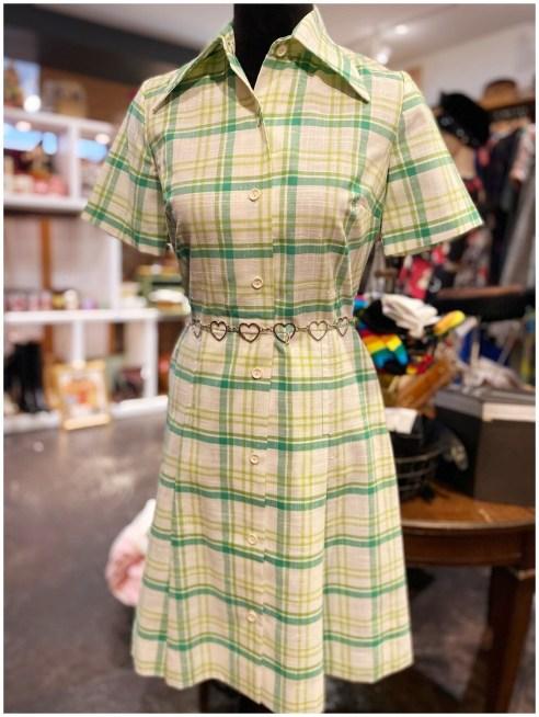 Vintage 1960's St. Michaels London Patterned Dress