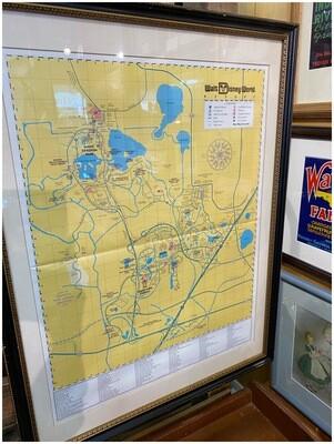 1990's Disney World Framed Map