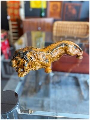 Mid Century Creeping Lion Figurine
