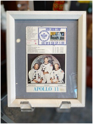 Vintage Apollo 11 1st Day Issue Moon Landing Stamp