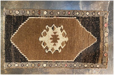 Vintage Handmade Rug from The Villages in Turkey
