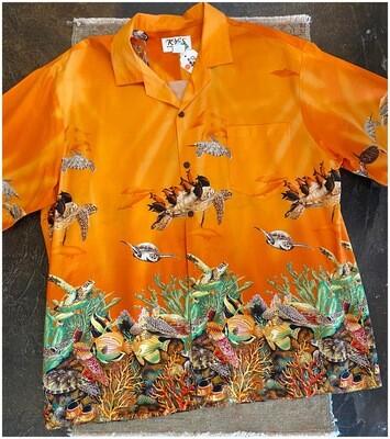 Vintage Men's Hawaiian Underwater Shirt