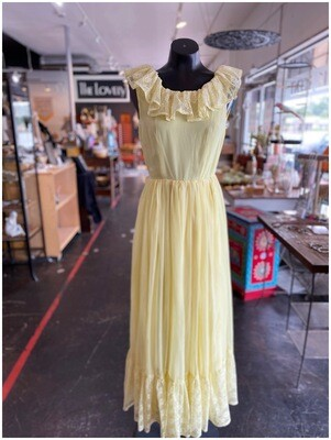 Vintage Southern Charm Handmade Maxi with Lace