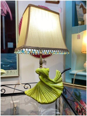 1950's Chartreuse Lamp