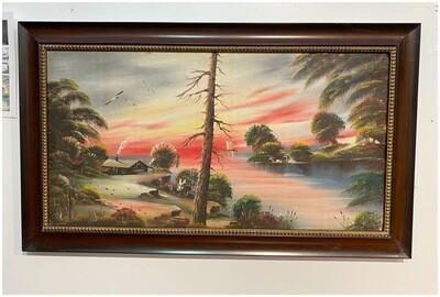 Idyllic Sunset by Hobo Artist Paul Hubbard