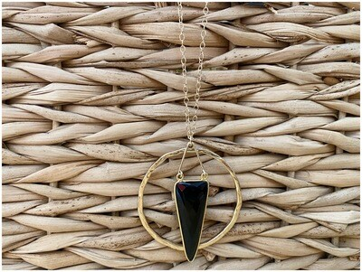 """14kt Gold Filled Onyx Necklace 16"""" Chain"""