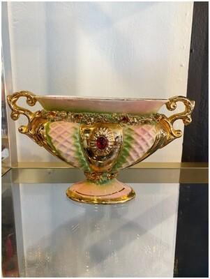 Vintage Large Italian Porcelain Mantle Urn