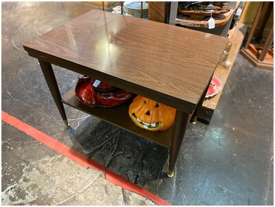 Mid Century End Table with Shelf
