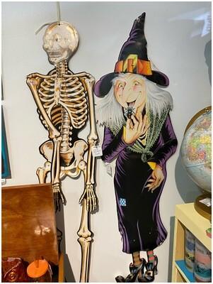 Vintage 1980's Skeleton Halloween Deco