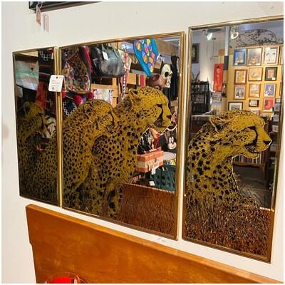 1970's 3 Part Cheetah Mirror