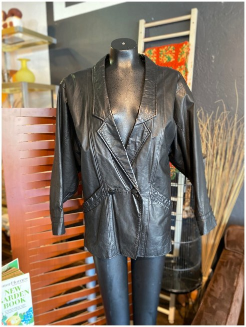 Vintage 1980's Yessica C&A Leather Batwing Bomber