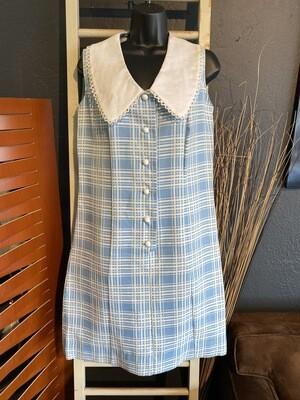 Vintage Polyester Blue Frock Dress