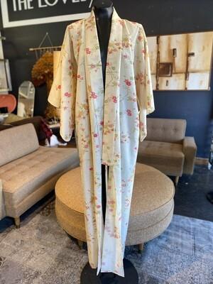 Vintage 1950's Japanese Silk Kimono