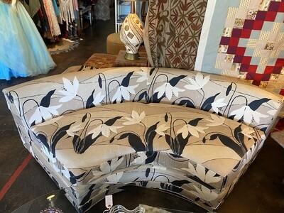 Vintage Curved Upholstered Sofa
