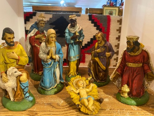 Vintage 1970's Italian Made Nativity Scene