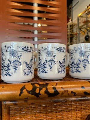 Vintage Milk Glass Mugs