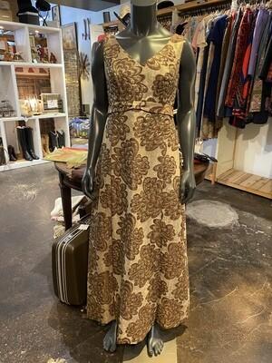 Vintage 1960's Metallic Fabric Gown
